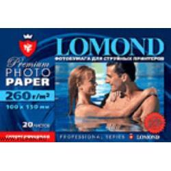 Бумага 'Lamond' ( белая /  полуглянцевая / односторонняя ) 100х150 мм 260 g/m^ 2 A 6