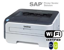 Brother   HL-2170WR Чёрно-белый лазерный принтер с беспроводным и проводным интерфейсами.