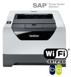 Brother   HL-5370DW Чёрно-белый беспроводной лазерный принтер с функцией автоматической двусторонней печати