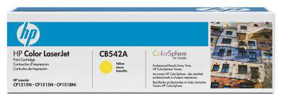 Заправка картриджа HP CB542A для принтеров HP Color LaserJet CM1312/CM1312nfi, HP Color LaserJet CP1215/CP1515n