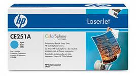 Заправка картриджа HP CE251A  для принтеров HP CLJ CP3525, CM3530