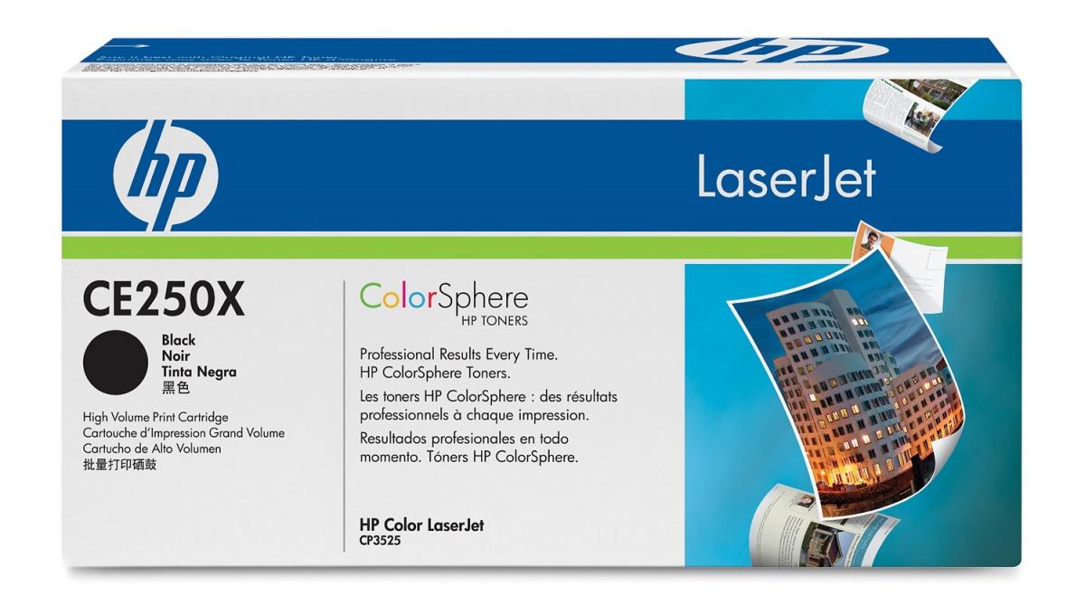 Заправка картриджа HP CE250X для Color LaserJet CM3530, CP3520, CP3525
