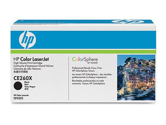 Заправка картриджа HP CE260X для Color LaserJet CP4520 Enterprise, CP4525