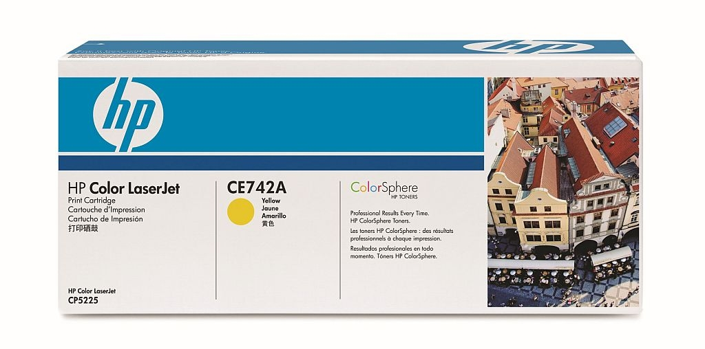 Заправка картриджа HP CE742A для Color LaserJet CP5220 Professional, CP5221, CP5223, CP5225, CP5227, CP5229
