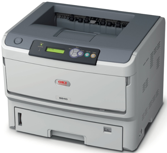 Принтер OKI B840N лазерный (LED) printer (A3, 40ppm(A4), 22 ppm(A3)