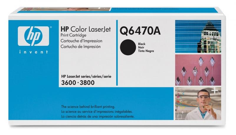 Заправка картриджа HP Q6470A для HP Color LaserJet 3600/3800/CP3505