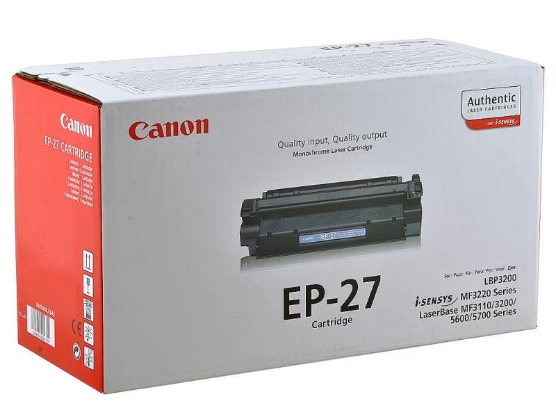 Заправка картриджа Canon EP 27 для Canon MF-3110/ 5630/ 5650, LBP-3200