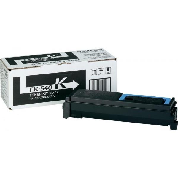 TK-540K тонер-картридж цветного лазерного принтера FS-C5100DN Kyocera (5 тыс с) (tk540k)